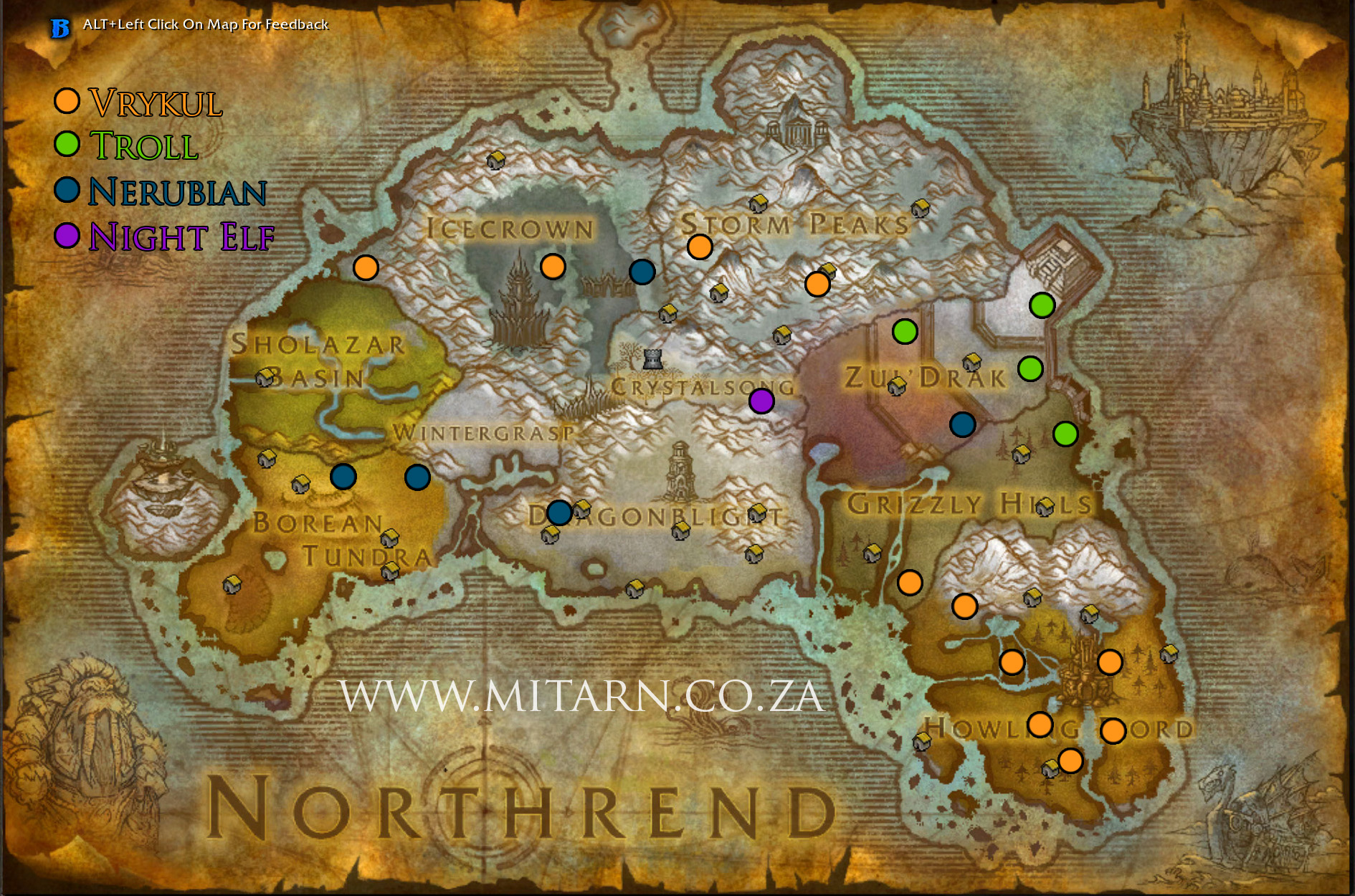 Cataclysm Northrend Archaeology Map