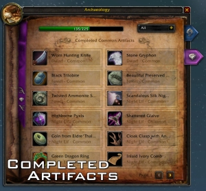 Completed Artifacts