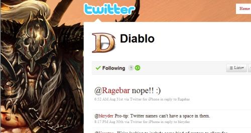 Diablo III Twitter