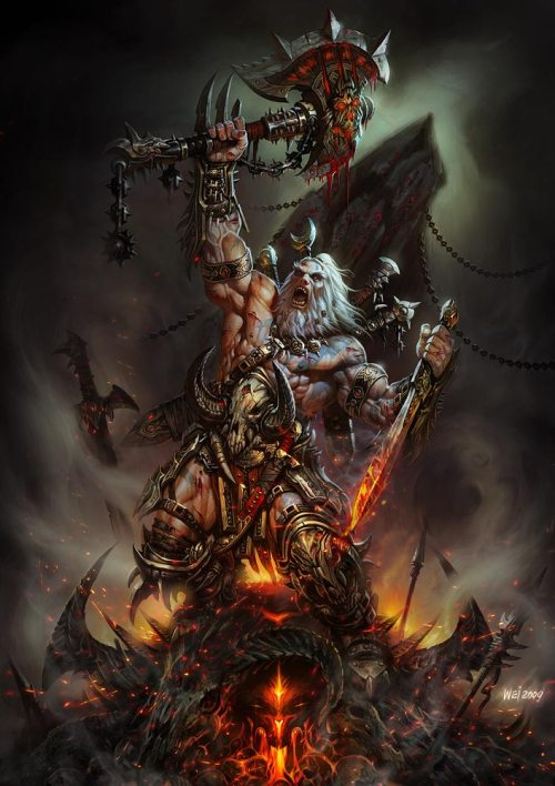 Diablo III Barbarian Art