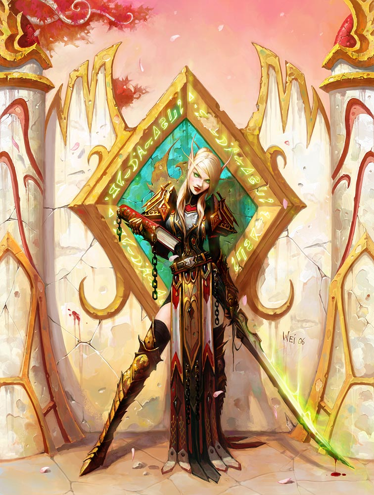 world of warcraft art blood elf. This is a Blood Elf Female