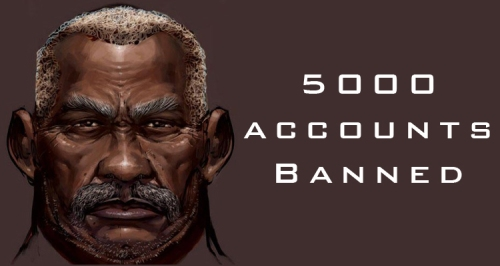 5000 Accounts Banned