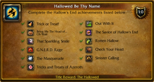 Hallow's End Achievements
