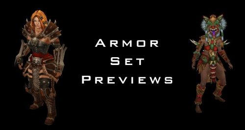 Diablo 3 Armor set previews