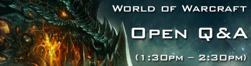 BlizzCon Warcraft Open Q&A